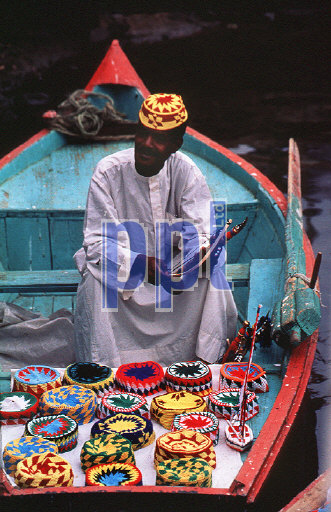 Floating souvenir trader on the Nile Egypt