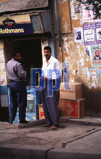 Local city life in Old Cairo Egypt