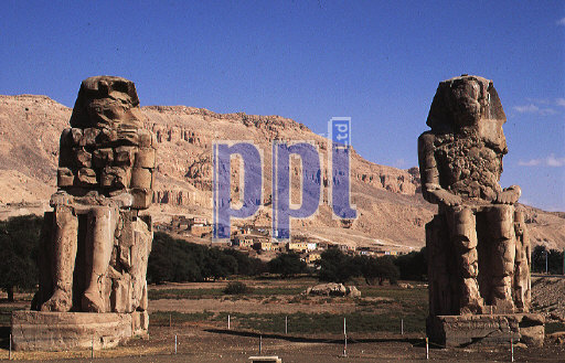 The Colossi of Memnon Thebes Egypt
