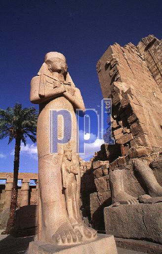 Statue of Ramesses II in Temple of Karnak Luxor Egypt
