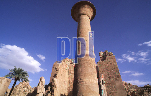 Obelisk of Sethos II in Temple of Karnak Luxor Egypt