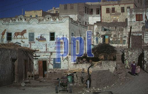 Alabaster Village on West Bank at Luxor Egypt
