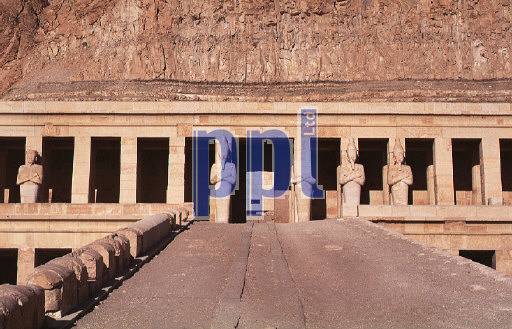 Temple of Queen Hatshepsut on West Bank at Luxor Egypt
