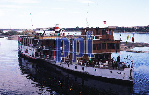 Cruise boat on the River Nile Egypt