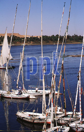 Felucca on the River Nile at Aswan Egypt