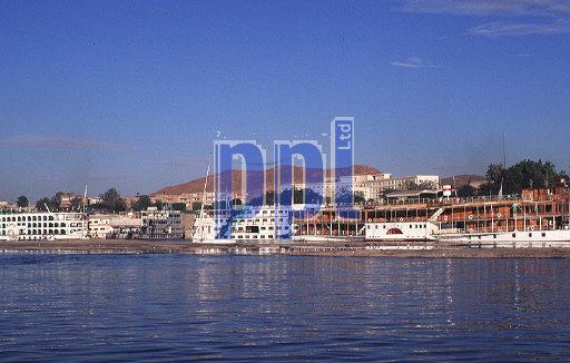 Cruise boats on River Nile Egypt