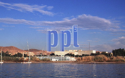 Boats on the River Nile at Aswan Egypt