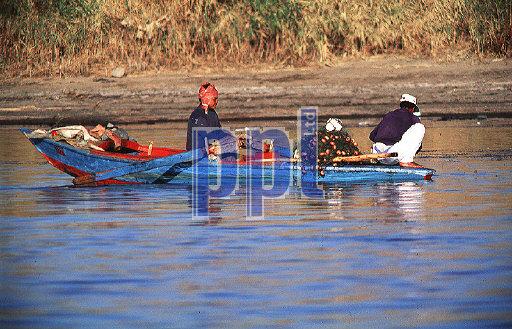 Local fishermen on River Nile Egypt