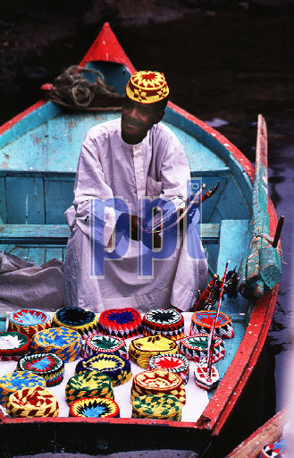 Floating souvenir traders on the Nile Egypt
