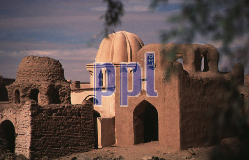 Domed Muslim tombs South of Aswan Egypt