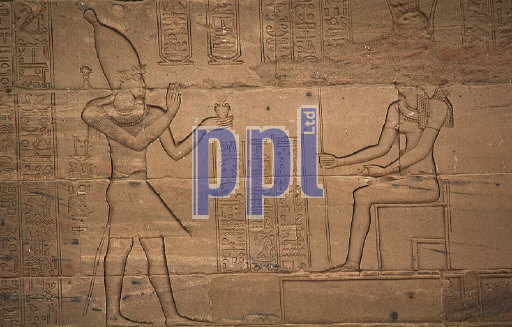 Mural relief in the Temple of Philae South of Aswan Egypt