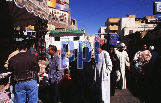 Street Bazaar Aswan Egypt