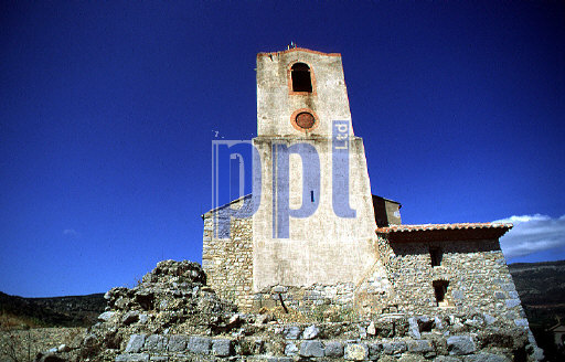 Village church, outskirs of Perpignon, France