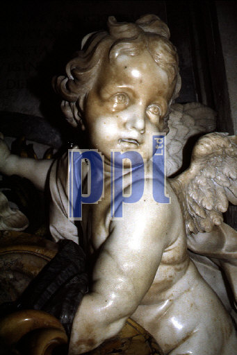 Holy Water font inside the Basilica of St Peter The Vatican Rome Italy