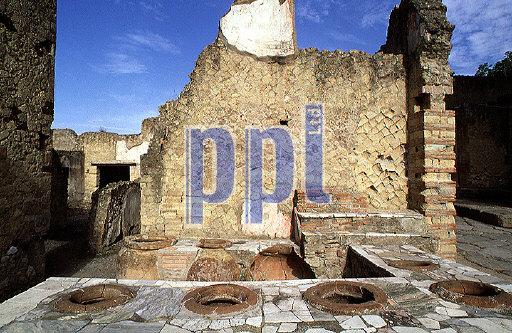 Ancient Local bar Herculaneum Ruins Italy