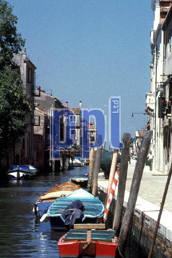 Burano Island,  Canal, Venice, Italy