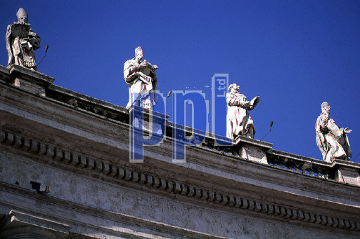 Statues of Saints St Peter Square The Vatican Rome Italy