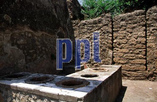Public Thermal Baths Pompeii Naples Italy