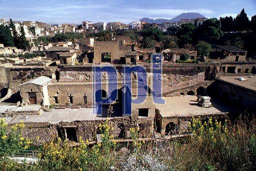 Ruins of Herculaneum & Vesuvius Italy
